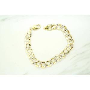 Other - Mens 10K Yellow Gold Hollow Curb Link Bracelet